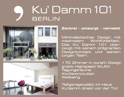 Ku damm 101 hotel 3 sterne hotel 3 sterne hotels berlin for Design hotel 101 berlin