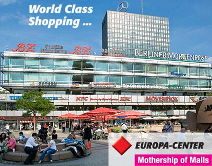 Caucho diferente Necesito  EUROPA-CENTER Shopping-Center Warenhäuser|Supermärkte Shopping Berlin  Kurfürstendamm